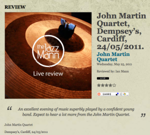 Press - John Martin-Saxophonist-Composer John Martin-Saxophonist